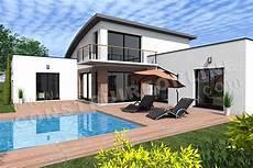 exemple maison moderne maison toit arrondi bac acier litude 4 en 2020 plan