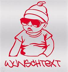 aufkleber wunschname on board sticker auto hangover baby