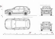 Audi Q2 2017 Cad Dwg File Autocad Blocks Car