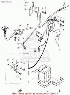 yamaha yg1 wiring diagram yamaha yg1 trailmaster 80 1964 usa electrical schematic partsfiche