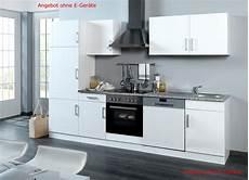Einbauküche Mit Geräten Günstig - einbauk 252 che ohne elektroger 228 te k 252 chenzeile ohne ger 228 te 280