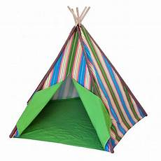 tente indienne tipi enfants jouent tente multicolore rayures indienne tente