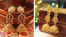 latest gold earrings designs jhumka designs wedding bridal earrings gold hoop earrings