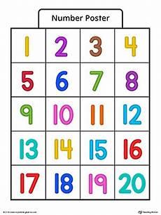 number poster 1 20 in color myteachingstation com