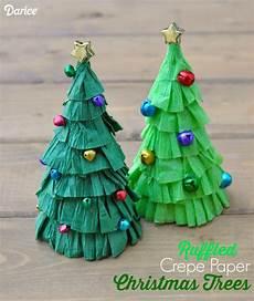 tree craft tutorial ruffled crepe paper darice