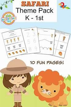 safari printable kindergarten worksheet