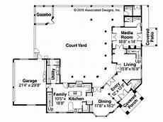 spanish style house plans with interior courtyard courtyard spanish revival mediterranean house plans adobe