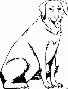 sitzender hund 2 ausmalbild malvorlage tiere