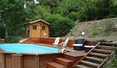 comment installer une piscine semi enterrée piscine semi enterr 233 e terrain en pente lh79 jornalagora