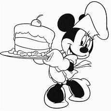 mickey mouse cake coloring pages coloring home