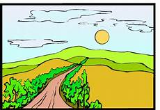 malvorlagen landschaften gratis und original weg mit baeumen ausmalbild malvorlage landschaften