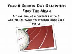 sport worksheets for year 1 15896 statistics worksheet year 6 sports day by georgeandsmudge teaching resources