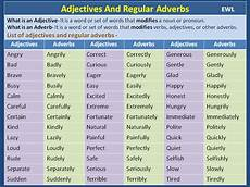 adjectives and regular adverbs vocabulary home