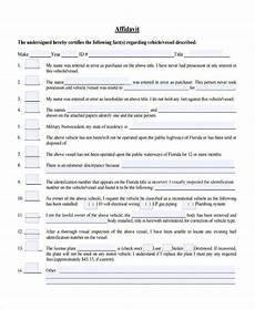 free 5 fact affidavit forms in ms word pdf