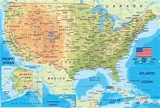 Karte Usa Vereinigte Staaten Amerika