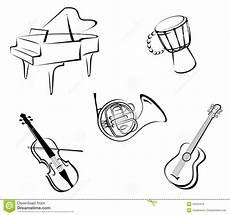 Malvorlagen Instrumente Musik Musikinstrumente Lizenzfreie Stockfotos Bild 18324418