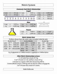 measurement worksheets middle school 1517 free metric system conversion guide school metric system conversion measurement worksheets