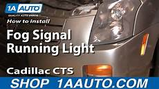 How To Install Replace Fog Signal Running Light Cadillac