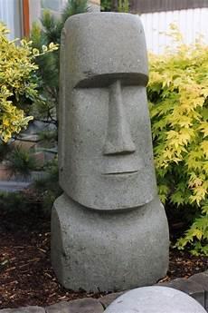 Steinskulpturen Für Den Garten - osterinsel moai steinfigur k 246 pfe naturstein basanit