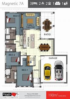 house plans townsville magnetic 7 3 bedroom house floor plan with study nook