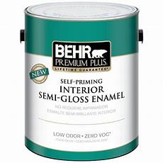 behr premium plus 1 gal swiss coffee gloss enamel zero voc interior paint 301201 the