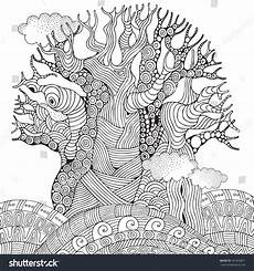 baobab tree tree coloring book page for