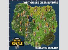 Fortnite Battle Royale carte avec emplacement de tous les