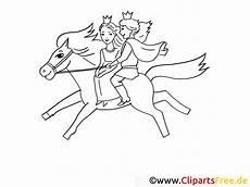 prinz und prinzessin reiten auf pferd ausmalbilder m 228 rchen