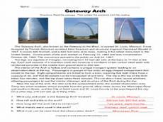 arch worksheets 19288 the gateway arch worksheet for 3rd 4th grade lesson planet
