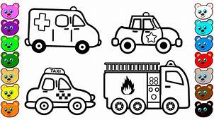 City Vehicles & Cars Coloring Pages For Kids  YouTube