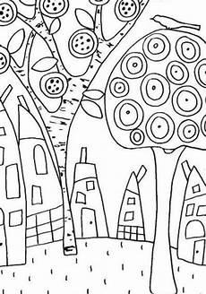 Malvorlage Hundertwasser Haus Hundertwasser Coloring Page Sketch Coloring Page