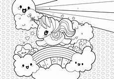 Malvorlage Regenbogen Einhorn Rainbow Unicorn Coloring Page Free