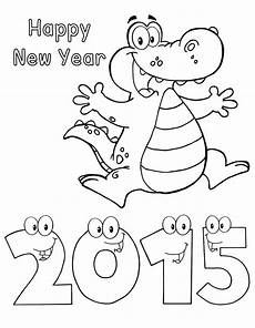 happy new year 2015 alligator worksheets third grade coloringpoint