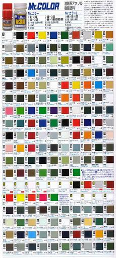 mr color acrylic paint chart home design