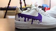 custom nike air 1 quot purple quot time lapse
