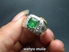 Zamrud Emerald Beryl 2 5 Ct cincin batu jamrud kotak hijau tua asli kode 821 wahyu