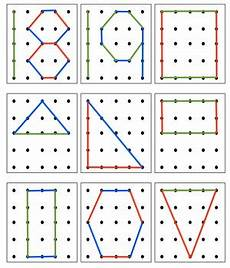 shapes pattern worksheets for grade 1 1234 geoboard numbers and 2d shapes by stepan into kindergarten tpt