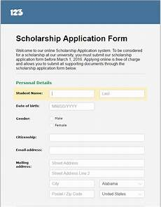 tuesday template managing scholarship applications online