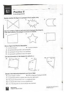 convex and concave polygons lesson plans worksheets