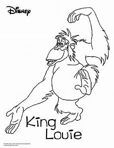 jungle book coloring sheet king louie disney coloring