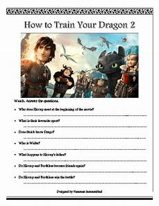 movie worksheet how to train your dragon 2