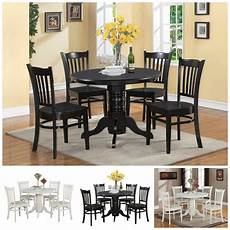5 pc black white dining room furniture dinette kitchen table 4 chairs home ebay