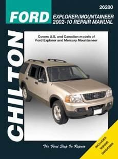 car repair manuals online free 2002 mercury grand marquis spare parts catalogs ford explorer mercury mountaineer chilton manual 2002 2010 hay26280