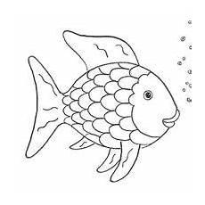 Malvorlage Fisch Mit Schuppen Spiele Basteln Regenbogenfisch Ausmalbilder Fische