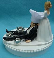 wedding cake topper chef cooking pots pans hat kitchen groom humorous fun ebay