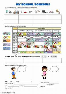 my school schedule ficha interactiva