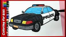 Ausmalbilder Polizeiauto Colouring Pages For Children How To Color Car