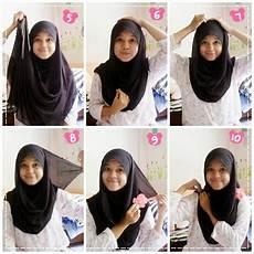 Cara Memakai Jilbab Segi Empat Untuk Sekolah 1 Smangap