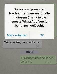 Whatsapp Gesendete Nachricht Löschen - so k 246 nnt ihr endlich whatsapp nachrichten l 246 schen die ihr
