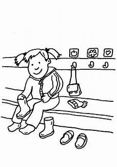 ausmalbild rund ums spielen im kindergarten kostenlos